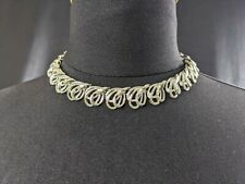 Lovely Vintage Silver-tone Necklace Choker by Coro Jewellery