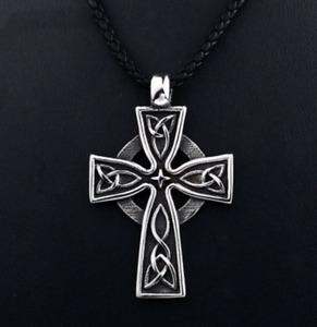 Celtic Cross Necklace Pendant Silver
