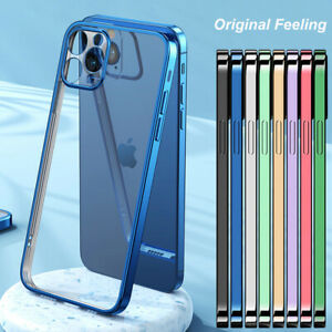 For iPhone 13 12 11 Pro Max Clear Transparent TPU Case Cover 6 7 8 Plus XS XR