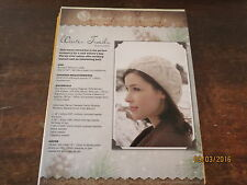 """Never Not Knitting """"Winter Trails"""" Cabled Hat Women's Med-Large 19-23"""""""