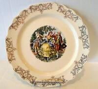 Cronin Dinner Plate White and Gold Dancing Revolutionary Couple