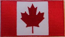 CANADIAN MAPLE LEAF FLAG BIKER PATCH - RED & WHITE VEST PATCH  - CANADA BIKER