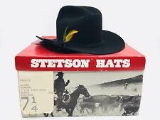 Stetson W1000 Senora Black Cowboy Hat Size 7 1/4 with Original Box
