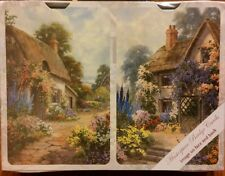 Double Deck Playing Cards w/ Garden Path & Old Cottage Designs on Both Sides NIB