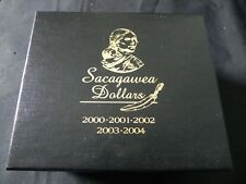 2000-2004 Sacagawea Dollars Set in Sealed Cases in Display Box- P&D Unc. S-Proof