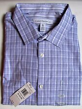 Calvin Klein Blue Mini Checkered  Button Down Shirt Sz XL NWT $69.50