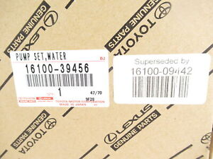 Genuine OEM Toyota Lexus 16100-09442 Engine Coolant Water Pump Assy w/ Gasket