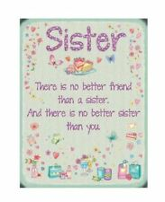 SISTER, Colourful Metal 20cm x 15cm Sign