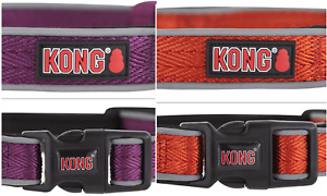 KONG Reflective Dog Collars Padded Weave M L XL BRAND NEW Assorted Colors!!!