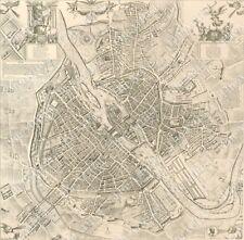 LARGE Paris Map VINTAGE PARIS FRANCE 1609 OLD ANTIQUE STREET STYLE MAP art print