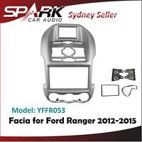 AD Double 2 DIN Facia Kit Panel Fascia Dash Plate For Ford Ranger 2012-2015