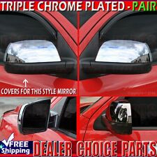 2007-2018 Toyota Tundra Chrome HALF Mirror COVERS Overlays ABS Trims NON-TOWING