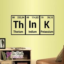 Vinyl Decal Think Periodic Table Element Chemistry Class Wall Sticker Decor 2129