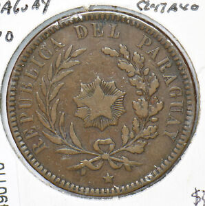 Paraguay 1870 2 Centavos 490110 combine shipping