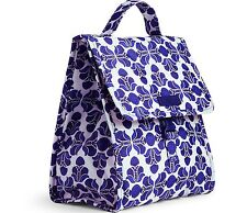 NWT Vera Bradley Lunch Sack bag in Cobalt Tile 15708 375 Bag CO