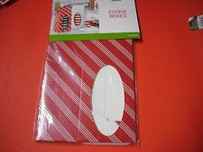 New 6PK Christmas Holiday Cookie boxes Cookie Goodie Treat Gift Present Boxes