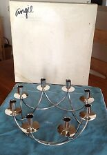 Vintage E. Dragsted Denmark Circular 8 Candle Silver Candelabra L.S. Ayers & Co.