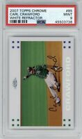2007 Topps Chrome Carl Crawford #85 White Refractor /660 PSA 9 Mint *Pop 1* Rays