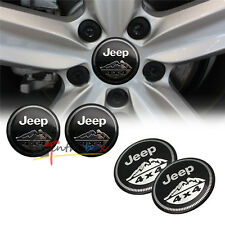 4PCS 56.5mm Jeep 4x4 Mountain Aluminum Car Wheel Center Hub Cap Emblems Stickers
