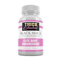 Black Maca Gelatinized Capsule THICK GAINS bigger glute breasts hips butt boost