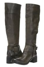 VINCE CAMUTO Womens Finella Gray Brown Leather Knee High Buckle Boots Size 6 M