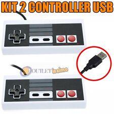 SET 2 JOYPAD NES  USB CLASSICO GAMEPAD NES MAME RASPBERRY MAME ANDROID PC MAC