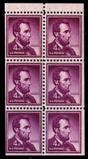BOOKLET PANE - #1036b 4c Lincoln.....VF og NH