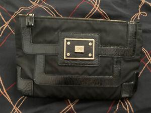 Anya Hindmarch black patent leather clutch Handbag
