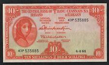 IRELAND  1964   10/ SHILLINGS   LADY  LAVERY    BANKNOTE
