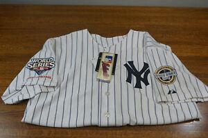 NWT Majestic 2009 World Series New York Yankees Sewn Jersey Derek Jeter Sz 50