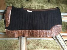 5 Star Saddle Pad Barrel Racer  Square Skirt 30 X 28 Black 1 Inch Thick!