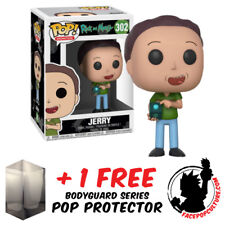 Funko Pop Rick And Morty Jerry Vinyl Figure + Free Pop Protector