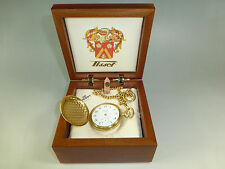 SWISS MATHEY TISSOT MECHANICAL WIND UP POCKET WATCH NEW IN ORIGINAL WOODEN CASE