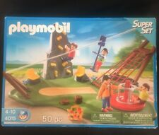 Playmobil 4015 Super Set Activity Playground Zip Tie Rock Wall Park Net Figures