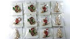 12pcs Brooch Pin Vintage Christmas for Christmas .