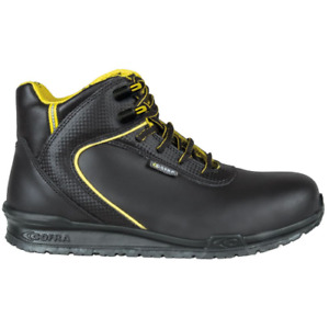 Cofra Bohr S3 SRC safety high winter work shoes in black leather