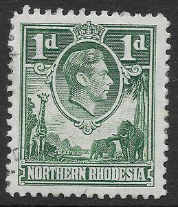 Northern Rhodesia 1951 1d Green scarce `Extra Boatman` VFU SG 28a CV £450