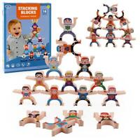 Stacking Toys Wooden Stacking Games Hercules Acrobatic Toy  Blocks GameToddler