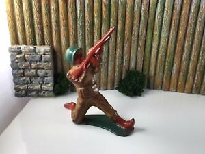 Manoil M181 Lead Soldier Sniper Shooting Up, Barclay Grey Iron