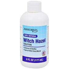 Assured 100% Natural Witch Hazel Solution, 6 oz. Topical Skin Care Blend