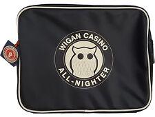 Wigan Casino RETRO MOD MENSAJERO BOLSA-WC2097 Negro