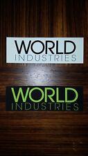 WORLD INDUSTRIES Skate Skateboard Skateboarding DECALS STICKER Set of 2