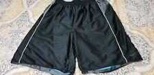 Mens Nike Reversible Mesh Basketball Shorts Teal Blue/Black/Gray Xl