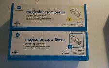 Konica Minolta Magicolor 2300 series cyan & yellow 1710517-006 & 008 NIB
