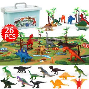26tlg Dinosaurier Schleich Figuren Set Groß Mini Dinos Kinder Spielzeug Spielset