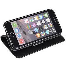 Book Case für Samsung Galaxy S5 G900 Flip Handytasche Silikon Halterung schwarz