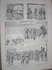 Austria army infantry practice with Mannlicher repeating rifle 1888 old print