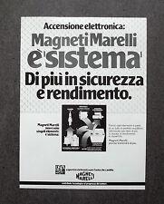 H753- Advertising Pubblicità -1982-  MAGNETI MARELLI , ACCENSIONE ELETTRONICA