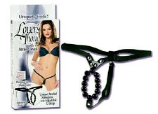 Lovers Thong With Stroker Beads adjustable G-Strap Beaded Panties G-string panty