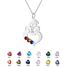 Personalised Birthstone Necklace Mom & Baby Family Necklaces for Mother's Day